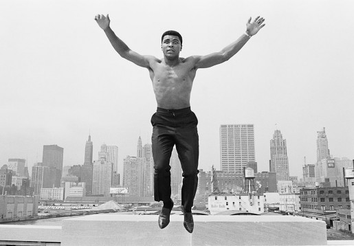 Thomas Hoepker, Ali Jumping from a Bridge over the Chicago River, 1963