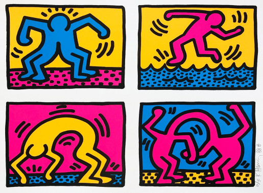 Keith Haring, Pop Shop Quad II, 1988