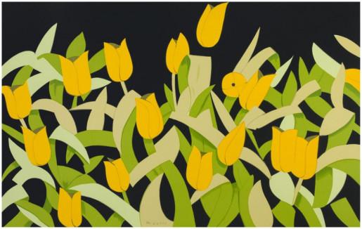 Alex Katz, Yellow Tulips, 2014