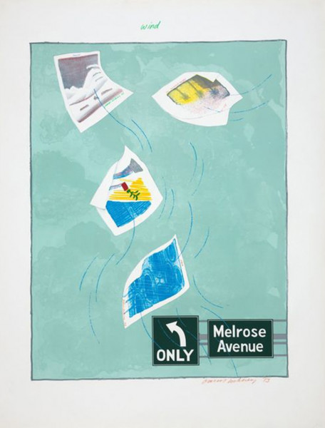 David Hockney, Wind, From the Weather Series, 1973