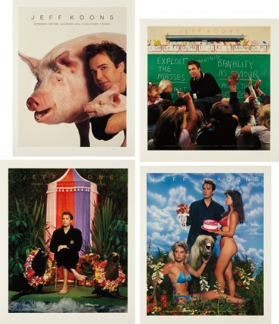 Jeff Koons, Art Magazine Ads (Flashart, Art in America, Artforum, Arts), 1988-89