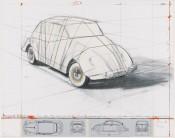 Wrapped Volkswagen (Project for 1961 Volkswagen Beetle Saloon)