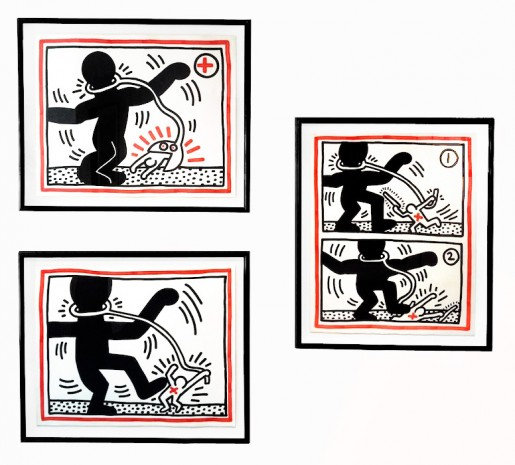 Keith Haring, Free South Africa #1 #2 #3, 1985