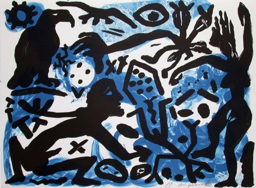 A.R. Penck, The Situation Now, Night, 1992