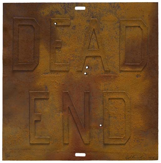 Ed Ruscha, Rusty Signs - Dead End 3, 2014