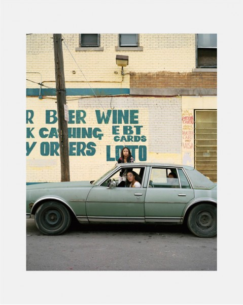 Dawin Meckel, girls in their car, Detroit, from DownTown - Detroit, 2009