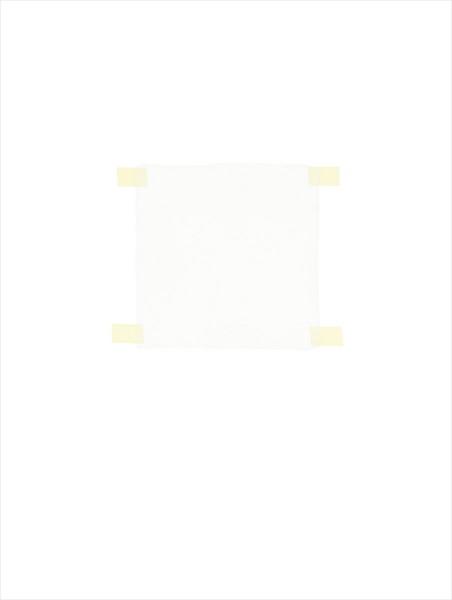 Haleh Redjaian, White square on white paper, 2014