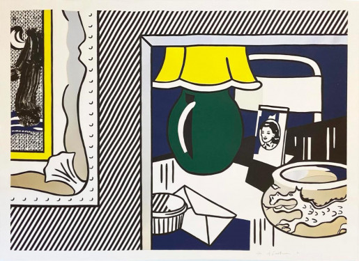Roy Lichtenstein, Two Paintings: Green Lamp from the Paintings Series, 1984