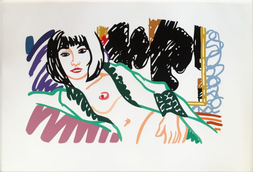 Tom Wesselmann, Monica in Robe with Motherwell, 1994