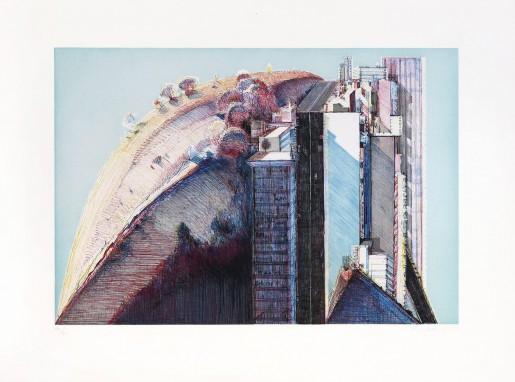 Wayne Thiebaud, Country City, 1988