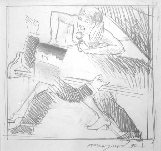 Allen Jones, Study for Night Fever, 1990