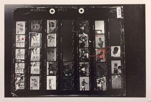 Thomas Hoepker, Contact Sheet of Ali Right and Left Fist, 1966