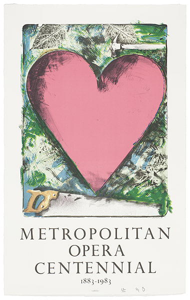 Jim Dine, A Heart at the Opera, 1983
