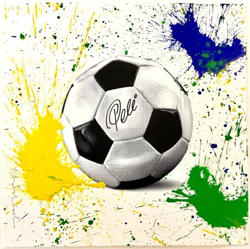 Mr. Brainwash, The King Pelé Football, 2016