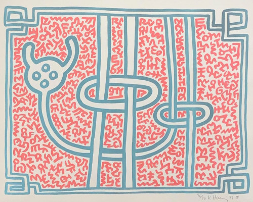 Chocolate Buddha 3 von Keith Haring