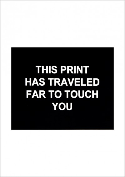 This print has traveled far to touch you von Laure Prouvost