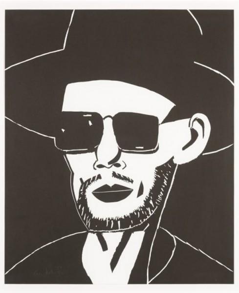 Alex Katz, Black Hat (Tim), 2010