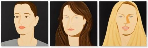 Alex Katz, Three Portraits (Sarah, Vivien, Sophia), 2012