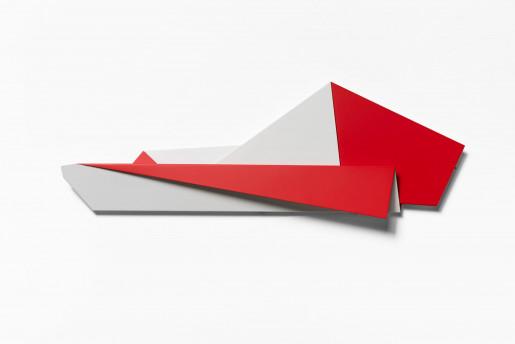 Sébastien de Ganay, Folded Flat Red & White, 2021