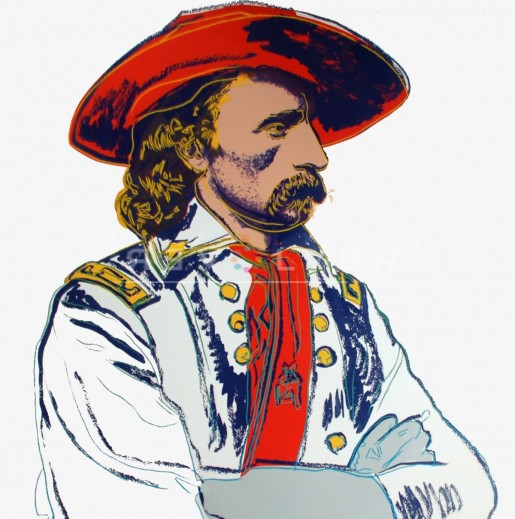 "Andy Warhol, General Custer (FS II.379), from the Portfolio ""Cowboys and Indians"", 1986"