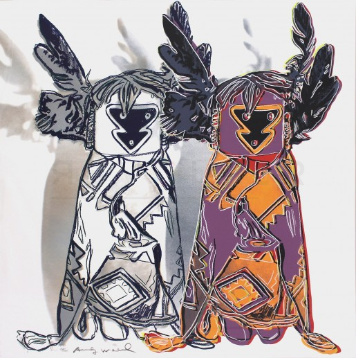 """Andy Warhol, Kachina Dolls (FS II.381), from the Portfolio """"Cowboys and Indians"""", 1986"""