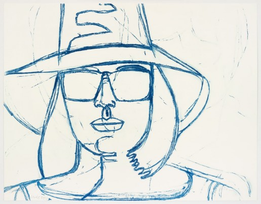 Alex Katz, White Hat and Sunglasses, 2008