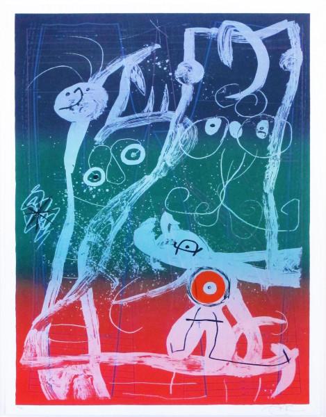 Joan Miró, Le Delire du Couturier, Bleu, Rouge, Vert, 1969