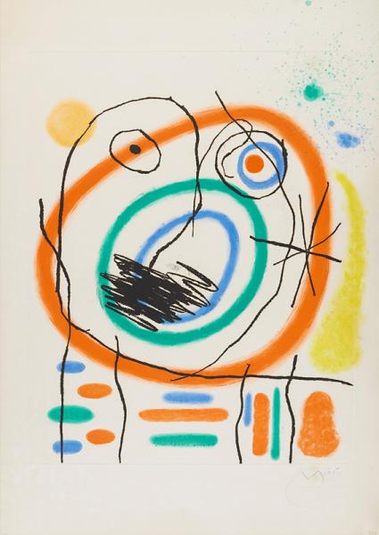 Joan Miró, Le Prophète Encerclé, 1965
