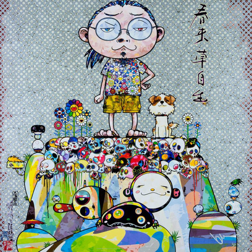 Takashi Murakami, With Eyes on the Reality of One Hundred Years from Now, 2013