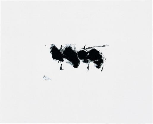 Robert Motherwell, Automatism Elegy (State I White), 1980