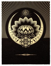 Obey Lotus Crescent (Black & Gold)