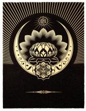 Obey Lotus Crescent (Black & Gold)