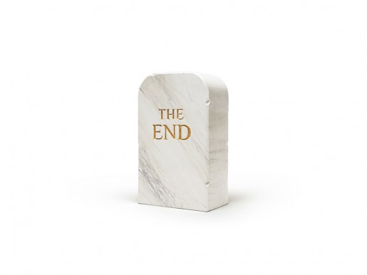 Maurizio Cattelan, The End (marble), 2016