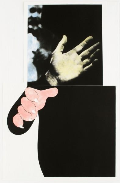John Baldessari, Two Hands (With Distant Figure), 1989-90