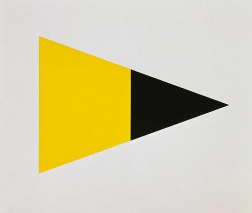 Ellsworth Kelly, Black Yellow, 1972