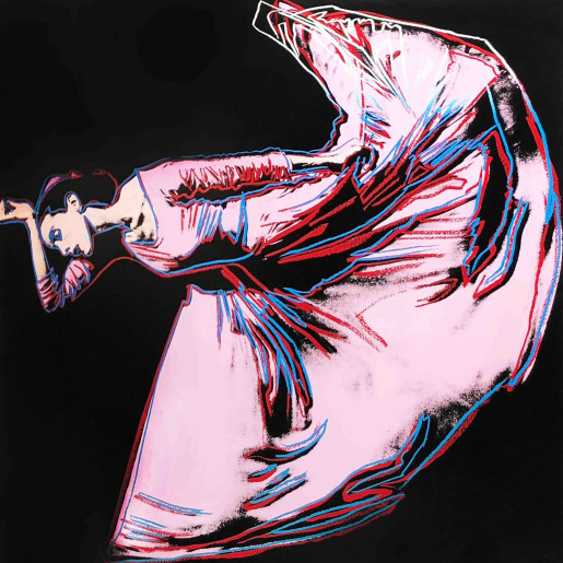 """Andy Warhol, Letter to the World (The Kick) (FS II.389) from the Portfolio """"Martha Graham"""", 1986"""