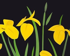 Yellow Flags 2 von Alex Katz