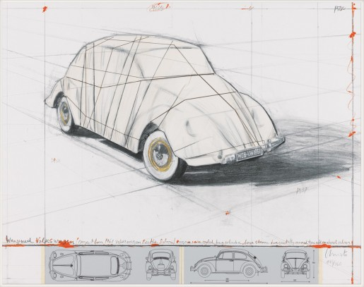 Christo, Wrapped Volkswagen (Project for 1961 Volkswagen Beetle Saloon), 2013