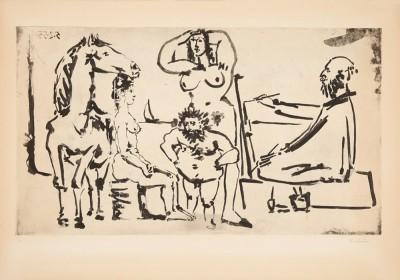 Le peintre sur la plage von Pablo Picasso