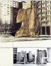 Wrapped Sylvette, Project for Washington Square Village, New York