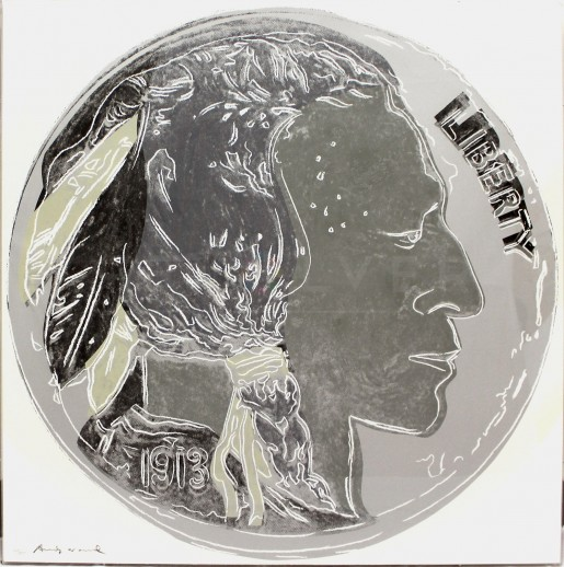 "Andy Warhol, Indian Head Nickel (FS II.385), from the Portfolio ""Cowboys and Indians"", 1986"