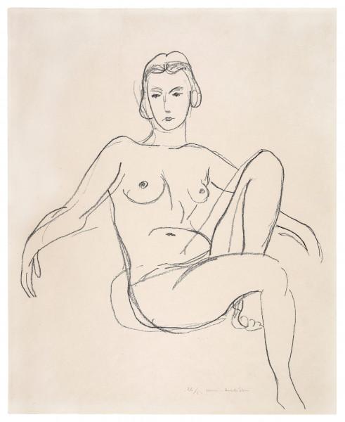 Henri Matisse, Nu assis les bras étendus, 1925