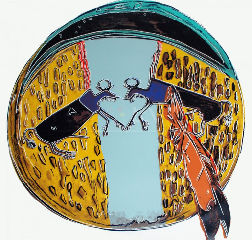 """Andy Warhol, Plains Indian Shield (FS II.382), from the Portfolio """"Cowboys and Indians"""", 1986"""