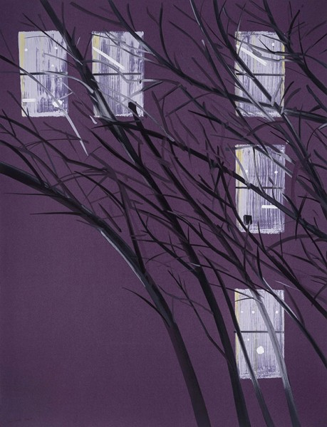 Alex Katz, Purple Wind, 2017