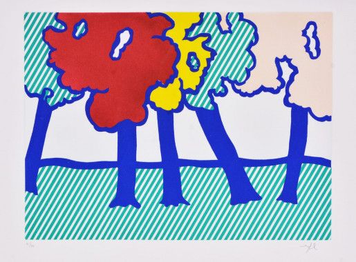 Roy Lichtenstein, Illustration for 'Or Automnal: Arrière-Saison en Nouvelle Angleterre', from La Nouvelle Chute de l'Amérique, 1992