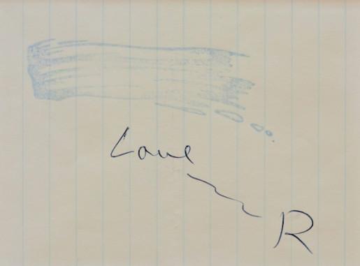 Roy Lichtenstein, Brushstroke Stamp, 1970