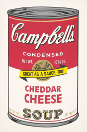 """Cheddar Cheese (FS II.63), from the Portfolio """"Campbell's Soup II"""""""