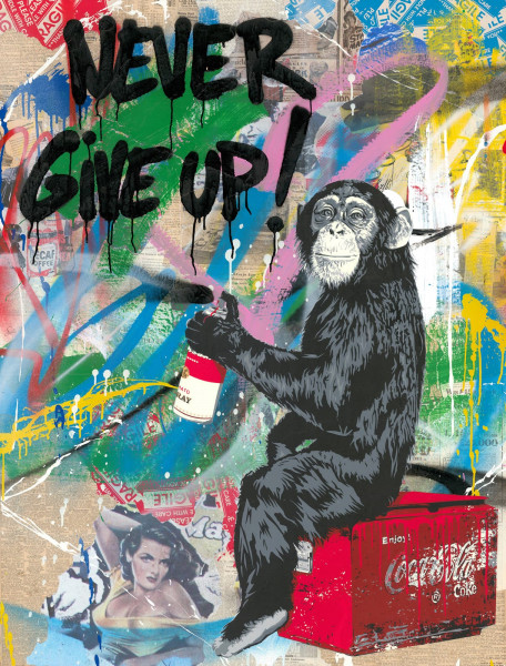 Mr. Brainwash, Everyday Life - Never Give Up, 2019
