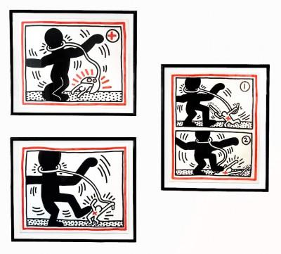 Free South Africa #1 #2 #3 von Keith Haring