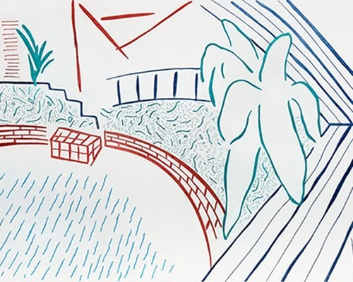 My Pool and Terrace von David Hockney
